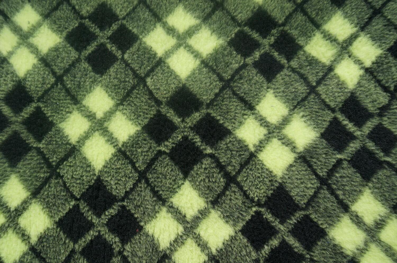 {Single Sheets} : Ultra Premium - Non-Slip Backing : Lime and Black Diamond Tartan  - Ref : (6372)