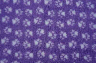 {15 x Metre Roll} : Ultra Premium - Non Slip Backing :  Lilac with White Paws Ref : (6278)