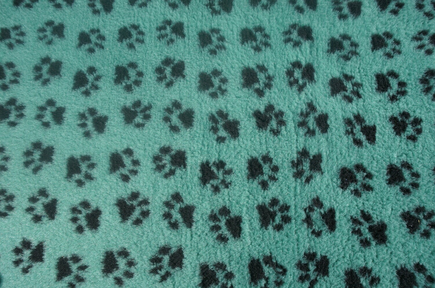 {15 x Metre Roll} : Ultra Premium - Non Slip Backing :  Sage Green with Black Paws  - Ref : (6352)