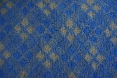 {15 x Metre Roll} : Ultra Premium - Non Slip Backing :  Blue and Grey Diamond Tartan - Ref : (6250)