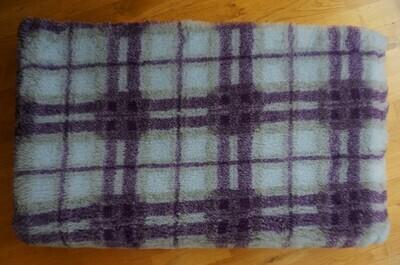 {15 x Metre Roll} : Ultra Premium - Non Slip Backing :  Purple and Light Blue Tartan - Ref : (6306)