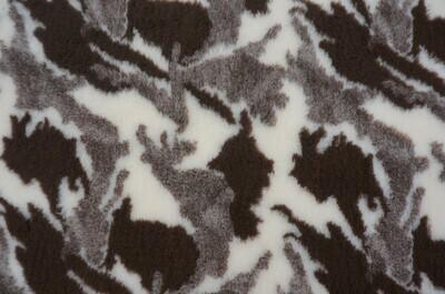 {15 x Metre Roll} : Ultra Premium - Non Slip Backing :  Camouflge - Brown / Sand and Cream - Ref : (6252)