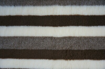{15 x Metre Roll} : Ultra Premium - Non Slip Backing :  Brown / Fawn and Cream Stripes - Ref : (6276)