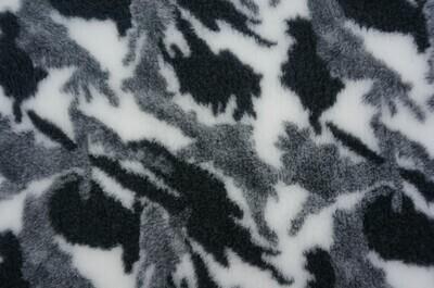 {15 x Metre Roll} : Ultra Premium - Non Slip Backing :  Camouflge - Black / White and Grey - Ref : (6280)