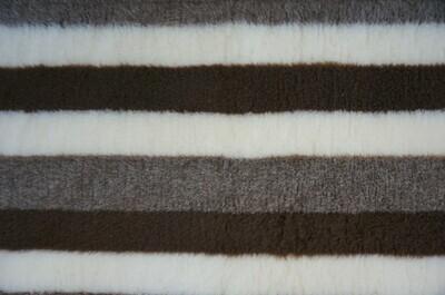 End of Roll {Single Sheet} Ultra Premium Non-Slip Backing Original Vet Bedding Fleece : Brown / Fawn and Cream Stripes - Ref : (6276)