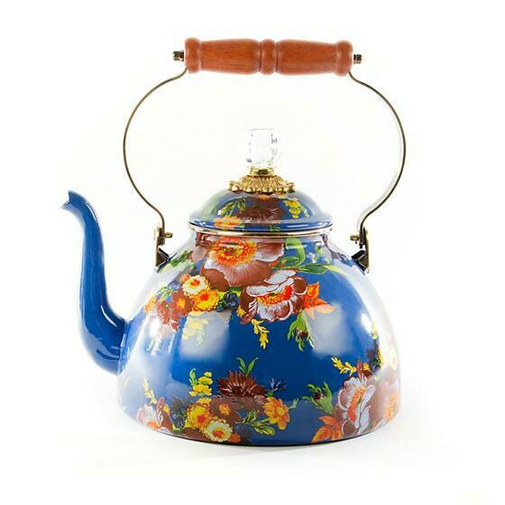 Flower Market Lapis 3 Quart Tea Kettle