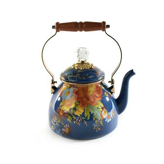 Flower Market Lapis 2 Quart Tea Kettle