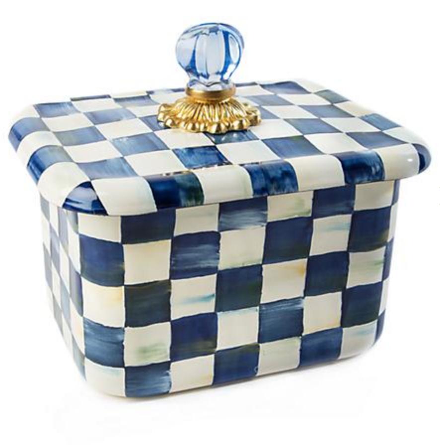 Royal Check Recipe Box