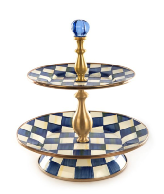 Royal Check Two Tier Sweet Stand