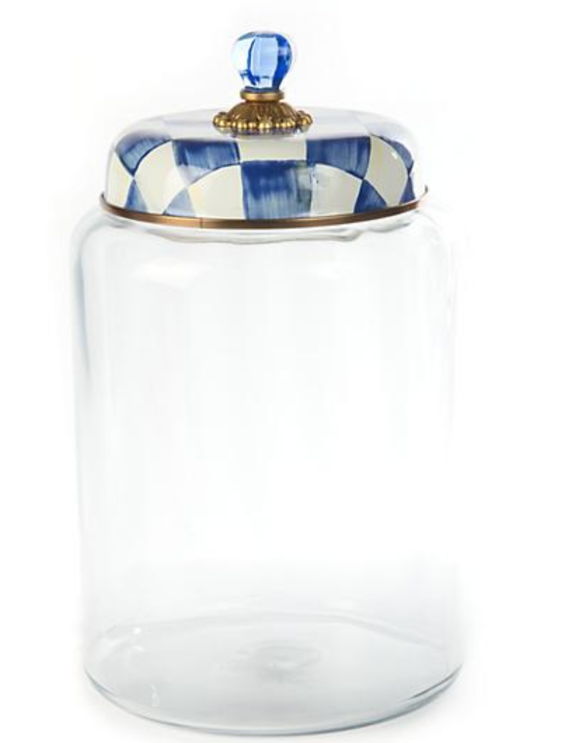 Royal Check Storage Canister - Biggest