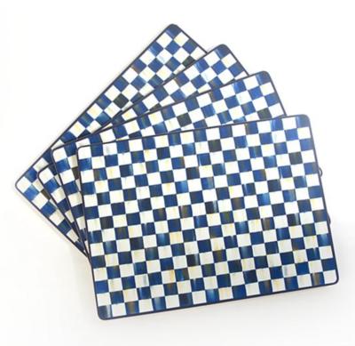 Royal Check Cork Back Placemats - Set of 4