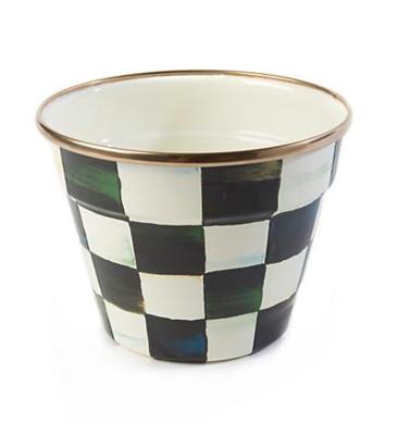 Courtly Check Enamel Garden Pot - Small