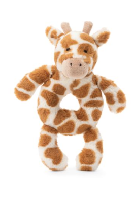 Bashful Giraffe Ring Rattle #BGN4GR