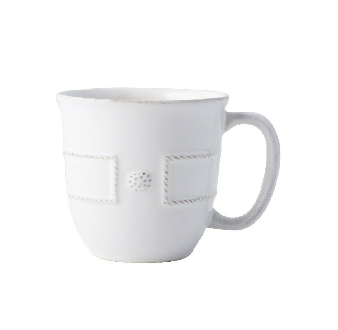 Cofftea Cup B&T French Panel White #JB46/W