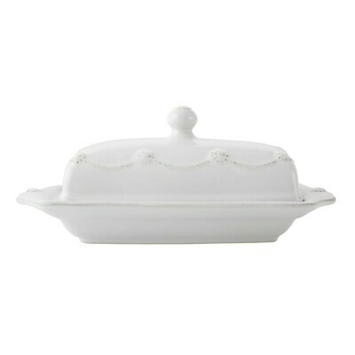Butter Dish B&T White JA29