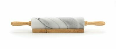 White Marble Rolling Pin #RPW-10