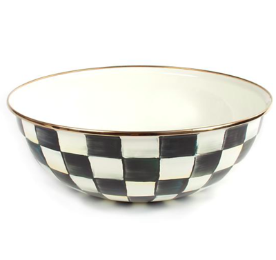 Courtly Check Enamel Everyday Bowl - Extra Large