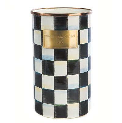 Courtly Check Enamel Utensil Holder