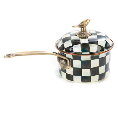 Courtly Check Enamel 2.5qt. Saucepan