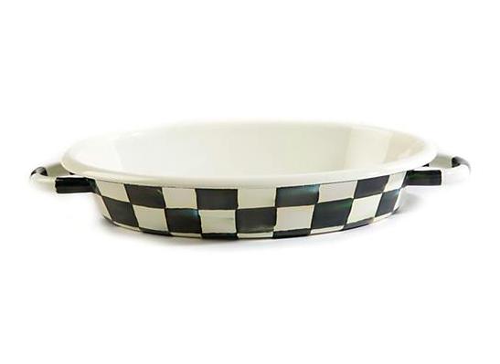 Courtly Check Enamel Oval Gratin Dish Medium