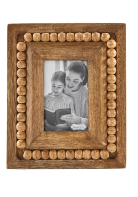 Sm Rectangle Beaded Wood Frame #46900236R