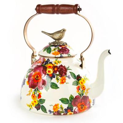 Flower Market 3 Qt. Tea Kettle With Bird