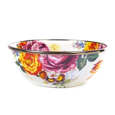 flower market everyday bowl- white