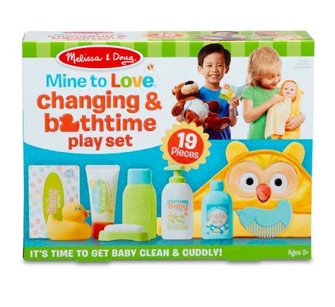 Mine to Love Changing & Bathtime Play Set
