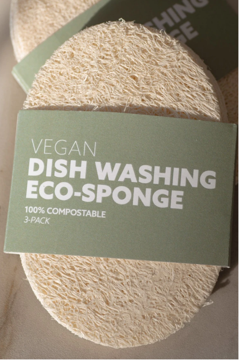 3 Pack Biodegradable Eco-Sponges For Dish Washing