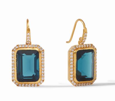 ER574GICA00 - Clara Luxe Earring Gold Clear Chalcedony