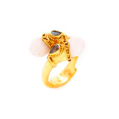 R092GMSLB-8 Baroque Wrap Ring