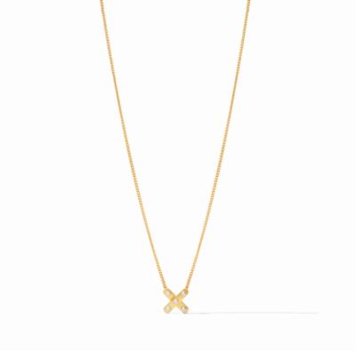 N334GPL00 Paris X Charm Gold Pearl