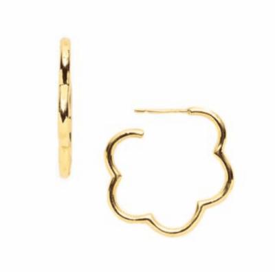 ER101G-P Gardenia Hoop Gold Small