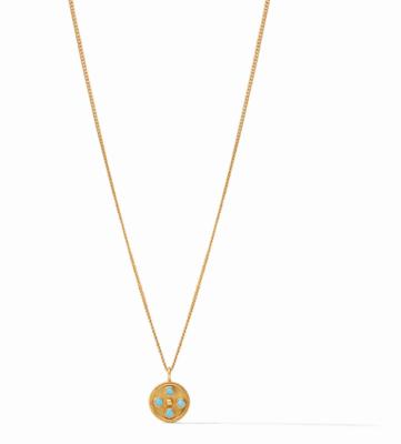 N333GITU00 Paris Charm Necklace Turquoise Blue
