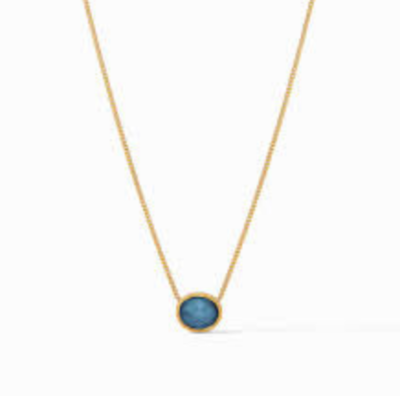N338GIAB00 Verona Solitaire Necklace Gold