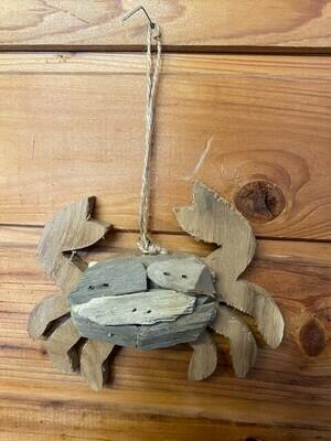 Driftwood Crab Ornament