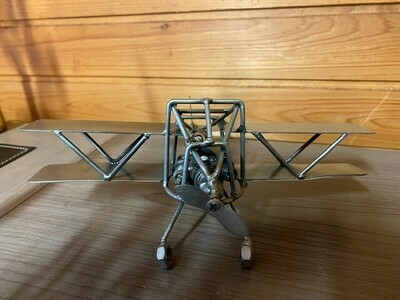 Handcrafted- Metal Airplane