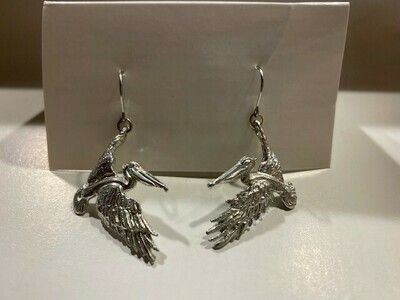 Flying Pelican Earrings