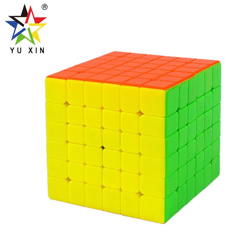 Головоломка YUXIN LITTLE MAGIC 6x6x6 color