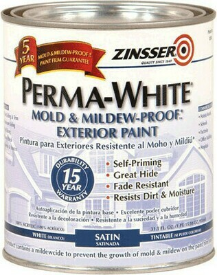 Краска интерьерная для стен самогрунтующаяся ультрабелая Zinsser Perma White