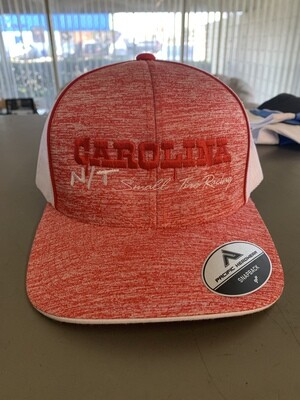 Red/white Trucker hat Red letters