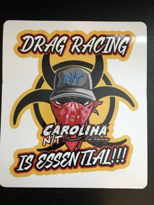 Red/Yellow Drag racing Is Essential (DECALS)