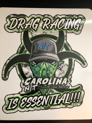 Green Drag Racing Is Essential (DECAL)