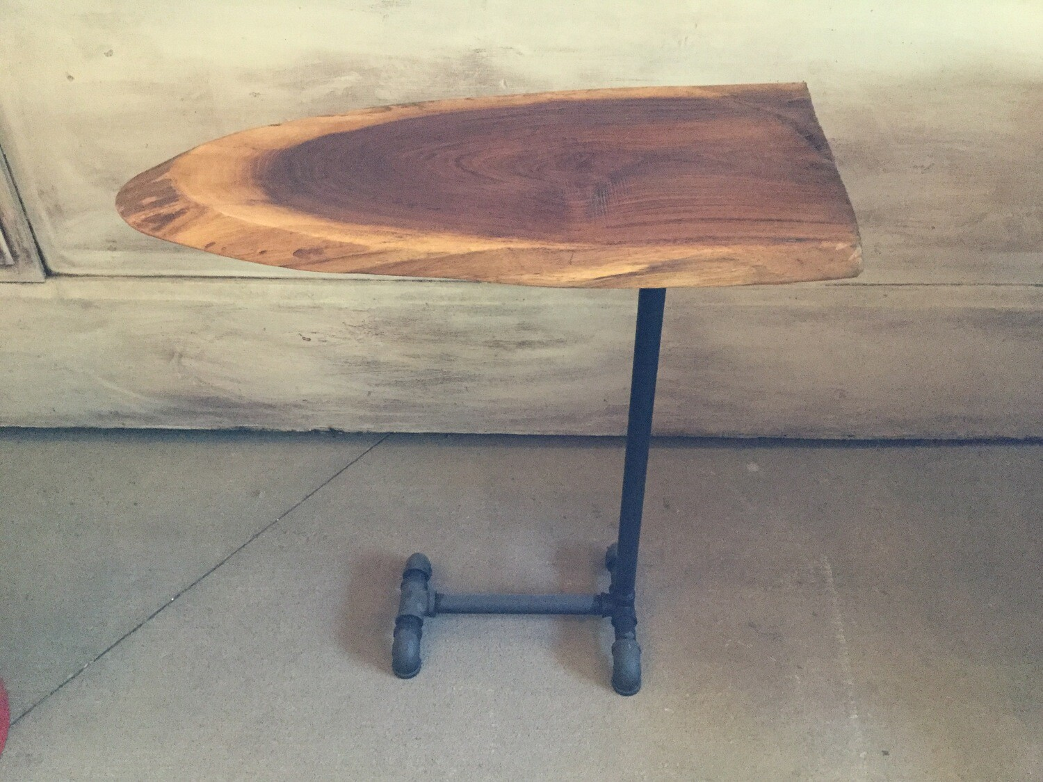 2057 Walnut 1-Leg Live Edge Table $199.99