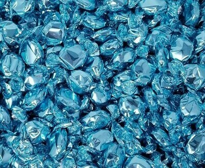 Foil Candy Light Blue Rasp 2.5lb