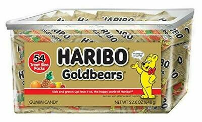 Haribo Gold Bears Snack Size 54ct