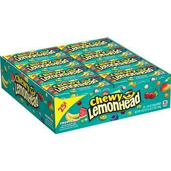 Lemonhead Chewy Tropical 24ct