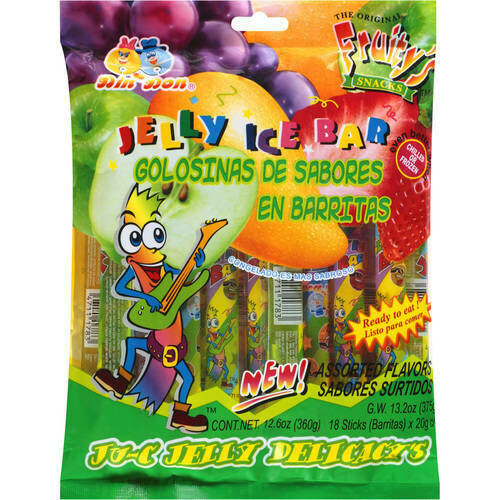 Jelly Sticks Assorted 18 ct