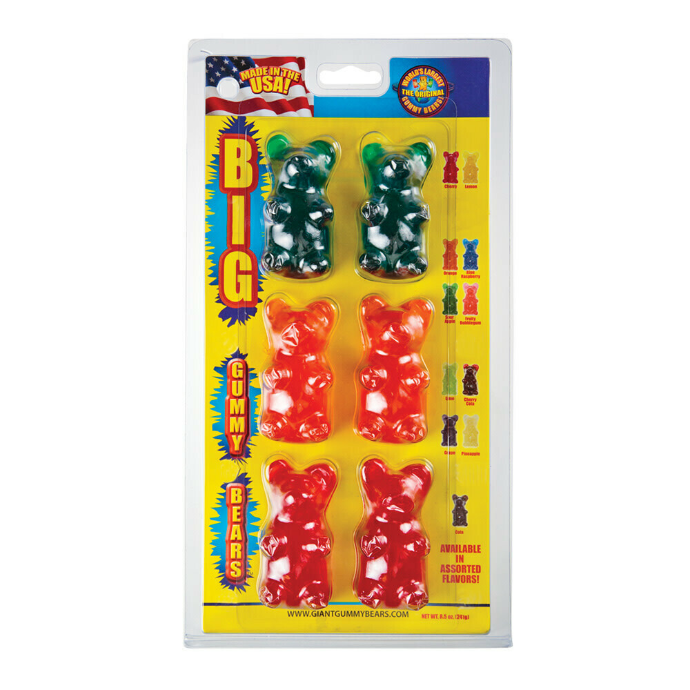 Big Gummy Bears 6-Pack