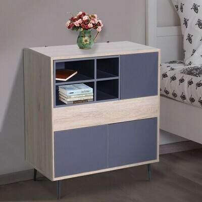 HOMCOM® Mehrzweckschrank Kommode Sideboard Konsole Flur ausziehbar Ablagefach 78 x 39 x 87,2 cm